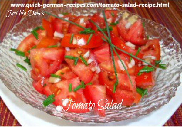 Recipes for garden tomatoe salads