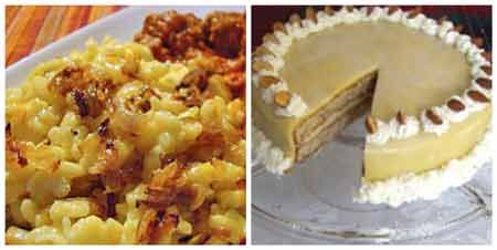 German Food Recipes: Spätzle and Hazelnut torte