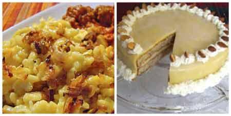 German Food Recipes: Spätzle and Hazelnut torte