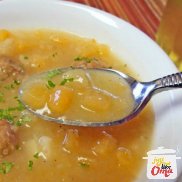 Quick and Easy Turnip Soup made Just like Oma