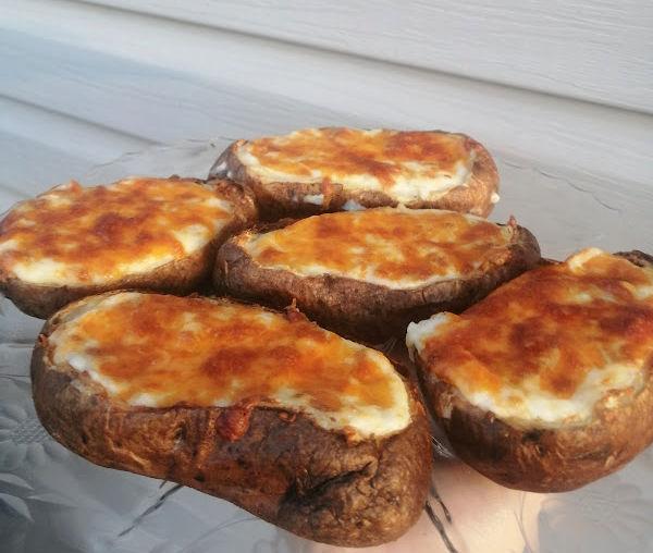 Air Fryer Twice Baked Potatoes ~ Zweimalgebackene Kartoffeln