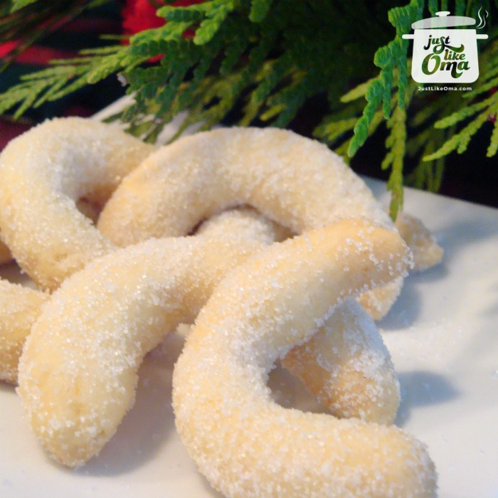 German Christmas Cookies:  Shortbread Cookie recipe, the German Vanillekipferln
