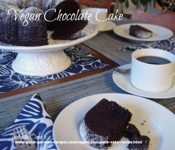 Oma's Vegan Chocolate Cake Recipe