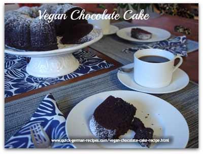 Vegan chocolate cake recipe (reminiscent of my German marble cake)  ❤️ Recipe: https://www.quick-german-recipes.com/vegan-chocolate-cake-recipe.html