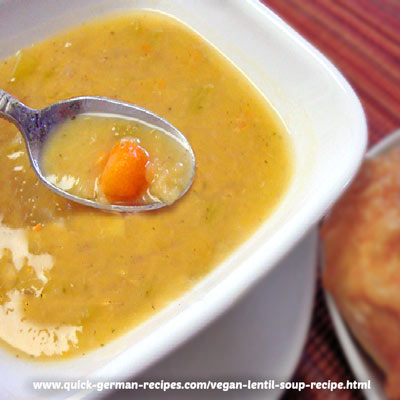 Red Lentil Soup, Vegan - quick and easy
