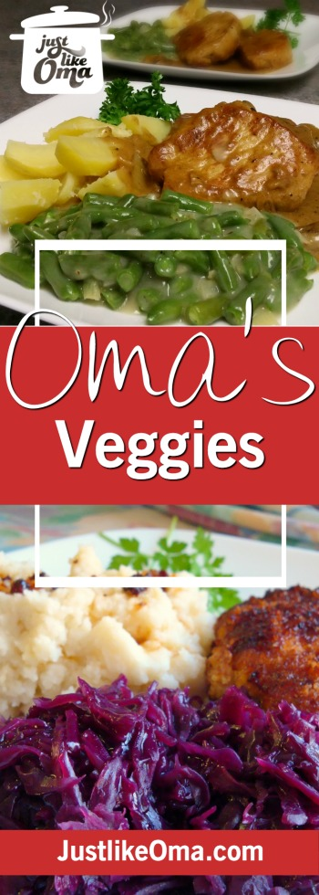 Oma's traditional vegetable recipes that bring back memories of your childhood favorites.  ❤️ Check out http://www.quick-german-recipes.com/german-vegetable-recipes.html