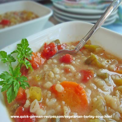 Barley Soup, Vegan - easy slow cooker soup