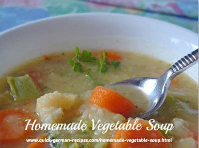 Vegetable Soup, Homemade - super easy