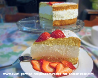 Whipped Cheese Cake - baked sponge layers & no-bake filling