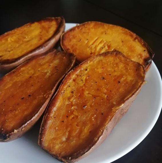 Air Fryer Sweet Potato Recipe ~ Lydia's Luftfritteuse Süßkartoffeln