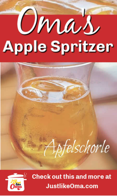 Apfelschorle ... the traditional non-alcoholic German drink.