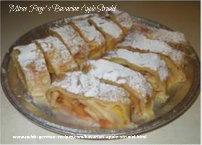 Mirae Gross-Page's Bavarian Apple Strudel