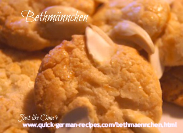 German Christmas Cookies: Bethmännchen