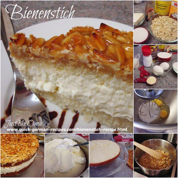 German Cake Recipe: Bienenstich or Bee Sting Cake