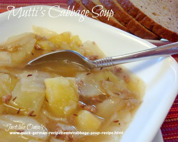 Mutti's German Cabbage Soup Recipe