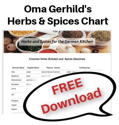 Oma's graphics for free download of herbs and spices