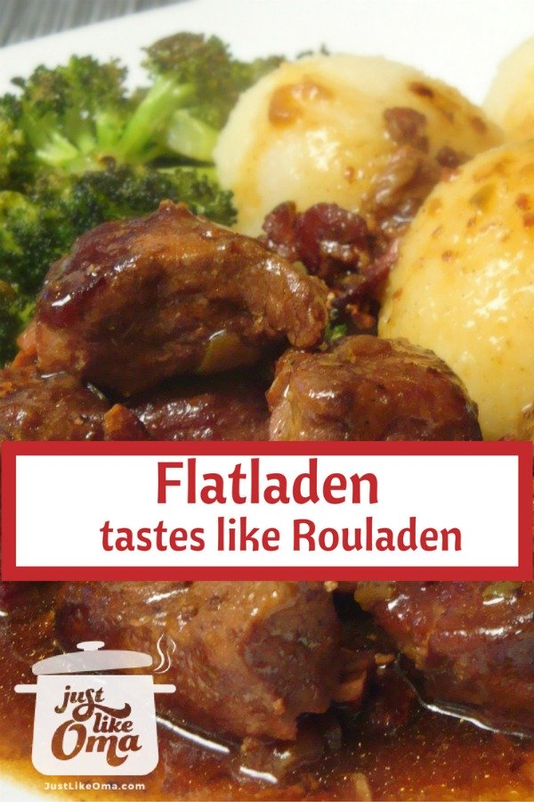 Plate with flatladen that tastes just like rouladen