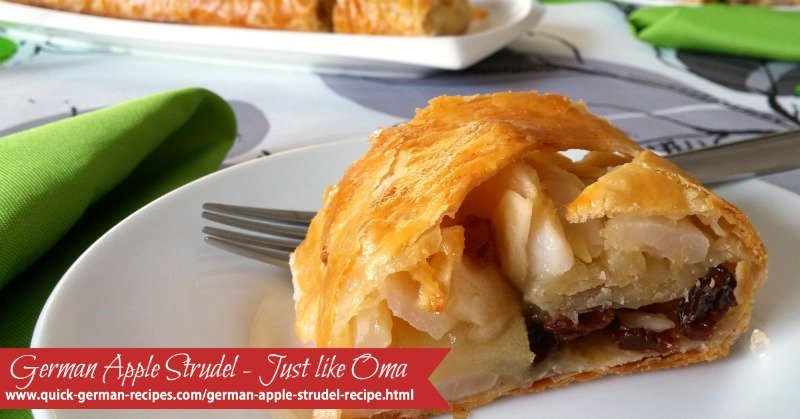 German Apple Strudel with Puff Pastry