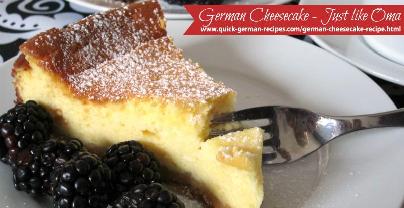 Real German Cheesecake