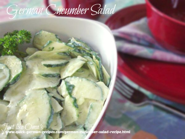 serving bowl filled with easy cucumber salad made with unpeeled English cucumbers