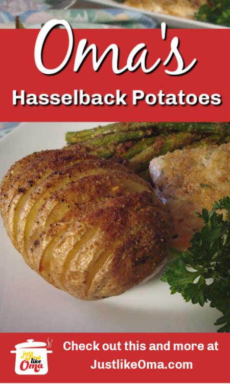 Fächerkartoffeln aka Hasselback potatoes. Aren't they stunningly nifty!