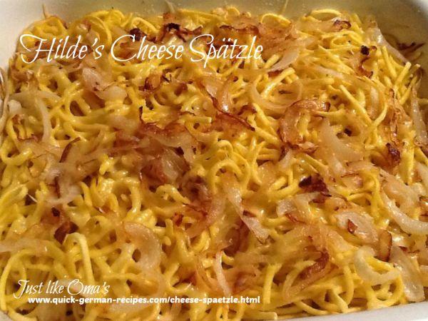 ❤️Hilde's German Cheese Spätzle! https://www.quick-german-recipes.com/cheese-spaetzle.html #spätzle #macandcheese #germanrecipes