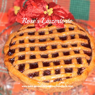 Linzertorte - traditional raspberry jam tart