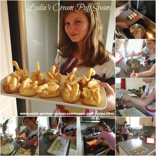 Lydia's Cream Puff Swans