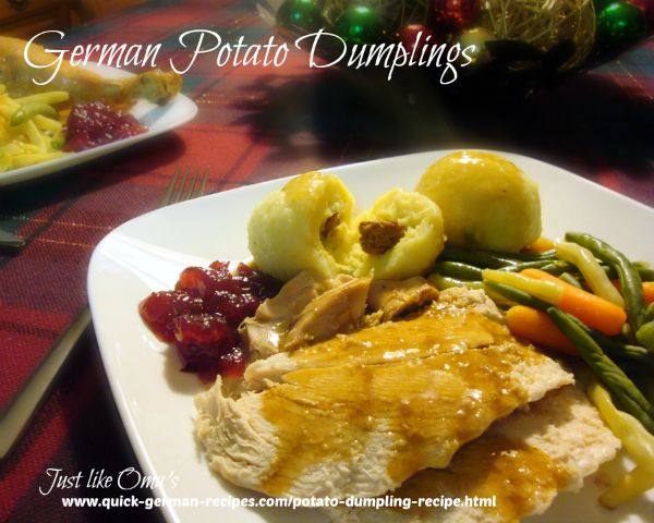 "Potato Dumplings - ""Halbseidene Klösse"""