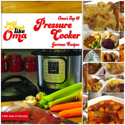 Take a look at Oma's Pressure  Cooker eCookbook and enjoy the traditional taste of German cuisine!