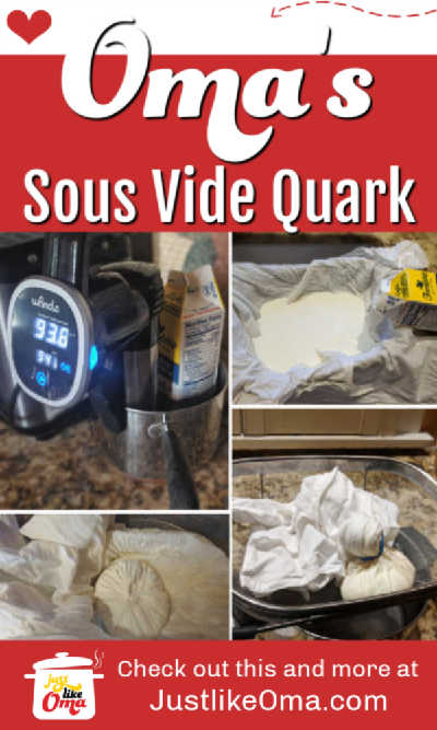 ❤️ Homemade Quark recipe for baking such as the German Cheesecake. Use your Sous Vide for this. Recipe: https://www.quick-german-recipes.com/quark-recipe.html #quarkrecipe #homemadequark #sousvide