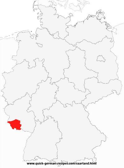Saarland, Germany, map