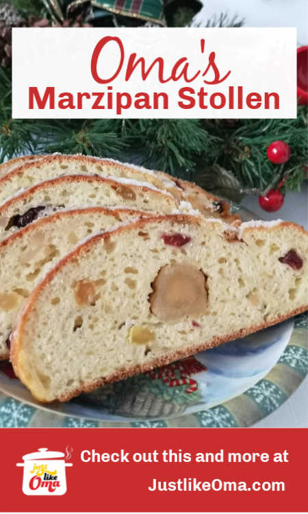 German Quark Stollen: quick to make anytime of the year, especially at Christmas.❤️ #stollen #christmas #germanrecipes #justlikeoma https://www.quick-german-recipes.com/stollen-recipe.html