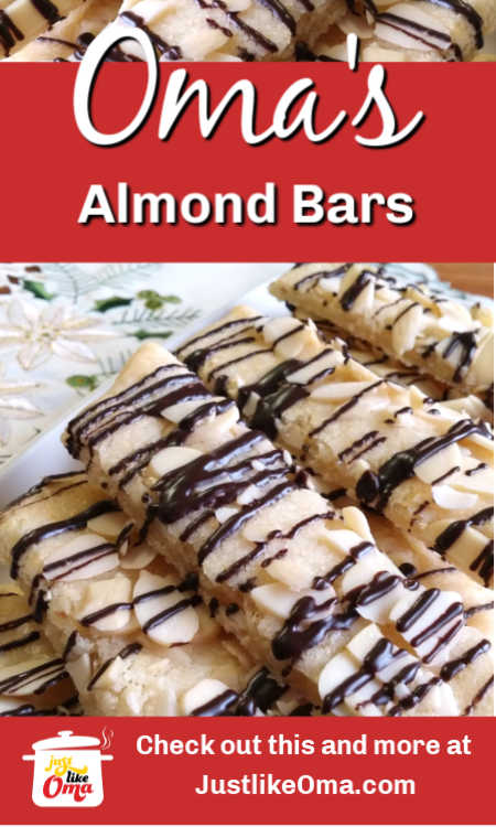 Easy breezy Scandinavian almond bars with a German twist... quick to make and so goooood!