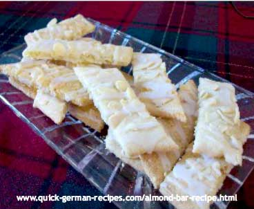 Almond Bars - an easy-to-make almond cookie