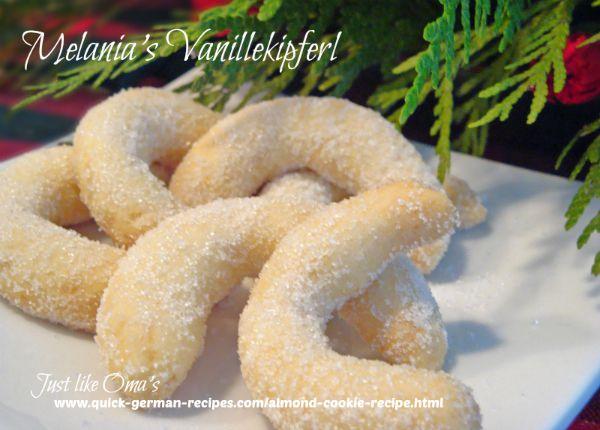 Almond Cookies - Melania's Vanillekipfel