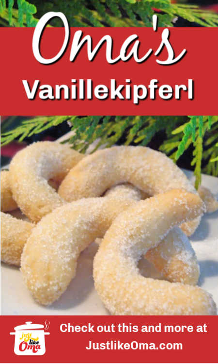 Traditional German Almond Cookie, the Vanillekipfel,  that everyone loves, not only at Christmas, but throughout the year.
