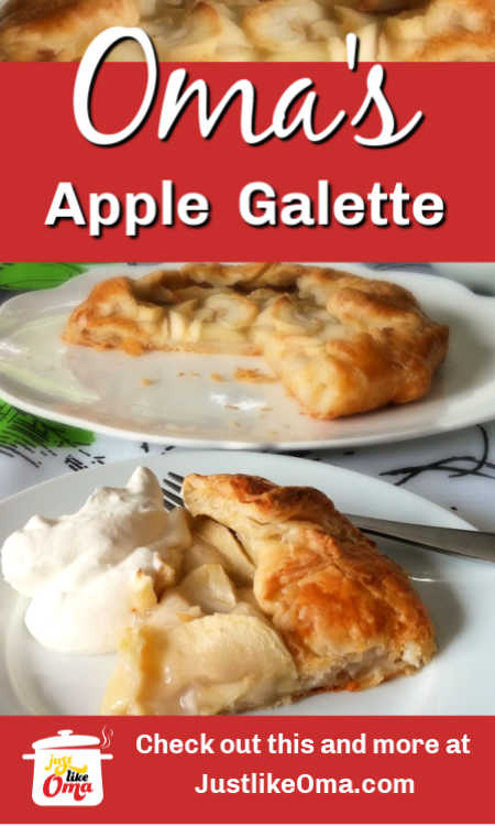 Make this easy freeform apple galette that tastes just like an apple strudel!