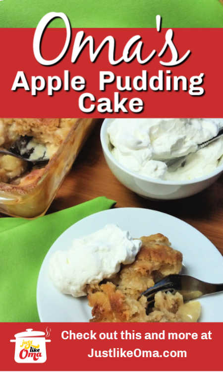 ❤️ Try this apple pudding cake warm from the oven. Tastes heavenly! Don't forget the whipped cream.