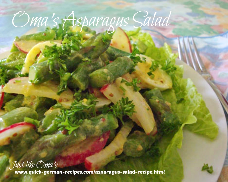 Oma's German Asparagus salad