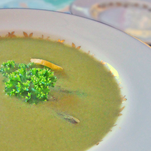 Oma's Asparagus Soup recipe is a great spring-time treat. Easy to make, delicious to eat!