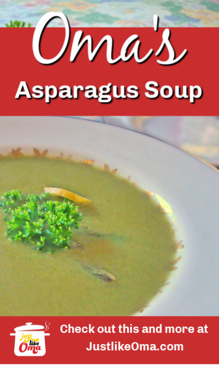 ❤️ Asparagus Soup that is so easy to make and tastes so wonderful. This springtime treat makes a great appetizer.
