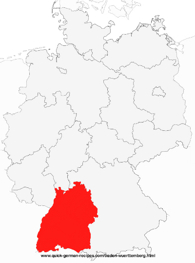 Map of Germany showing Baden-Württemberg