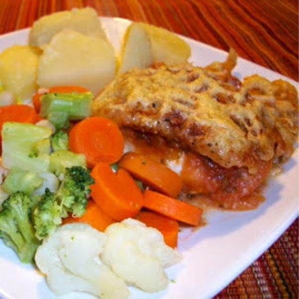 Baked Fish au Gratin -- German-style