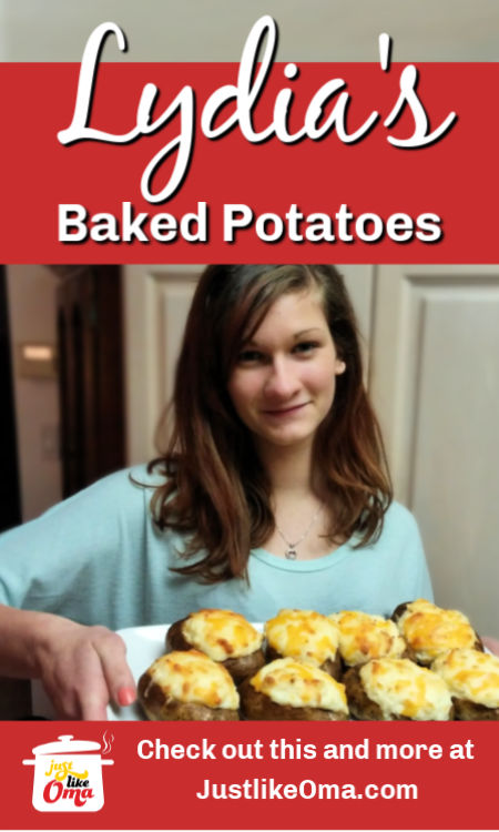Lydia's Twice Baked Potato Recipe that she's been making since she's been a little girl. Her favorite ... and mine!