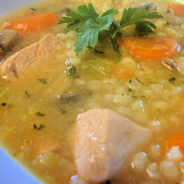 Oma's German Barley Soup Recipe