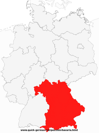 Bavaria - Map of Germany