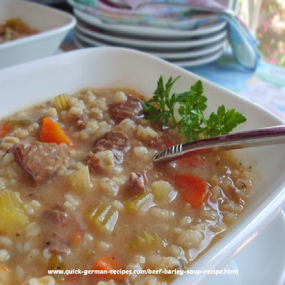 Beef Barley Soup - non-German comfort food!