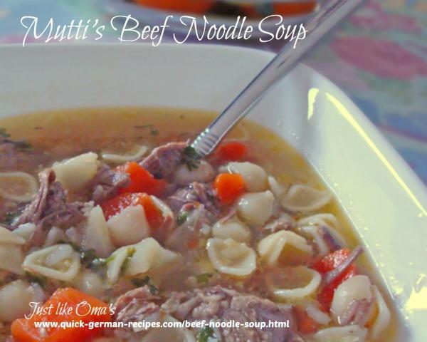 German beef noodle soup