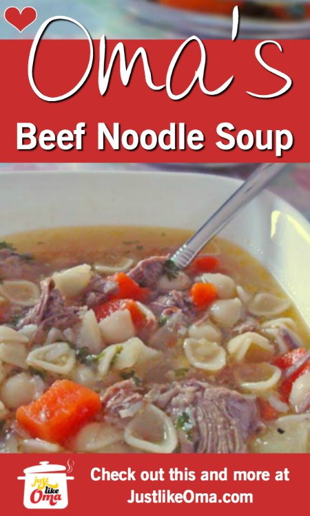 ❤️ Beef noodle (or pasta) soup is an all-time favorite among kids and adults alike.